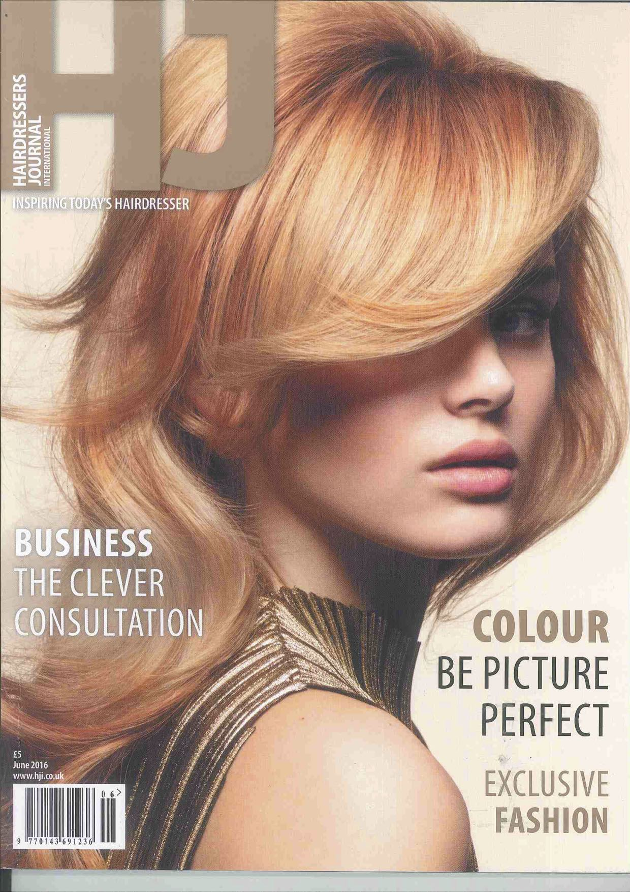 Simone Thomas featured in Hairdressers Journal-p1