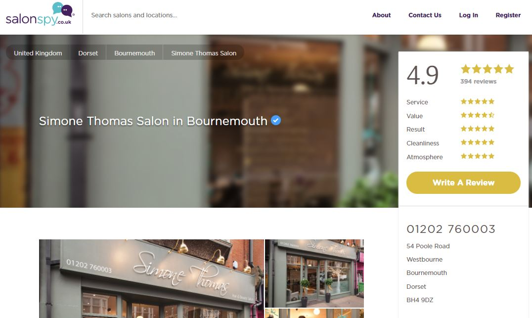 salon spy simone thomas hairdresser bournemouth