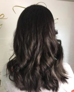 Coffee coloured hair shades top hair salon in Bournemouth at Simone Thomas Hairdressing