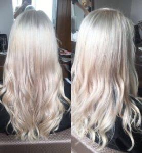 Icy white blonde hair colour simone thomas hair salon bournemouth