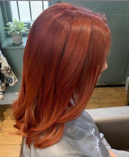 Whole Head Davines Red Hair Colour Simone Thomas Bournemouth Salon