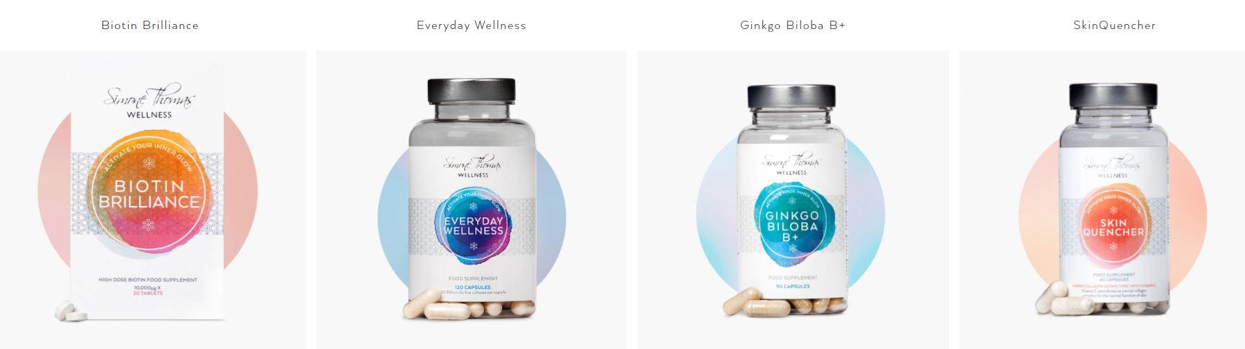 Simone Thomas Wellness products